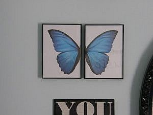 Pottery Barn Teen Knock Off - Butterfly wall art