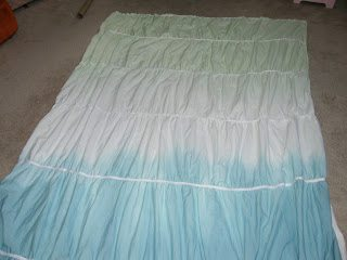 diy ruched duvet - show sewing