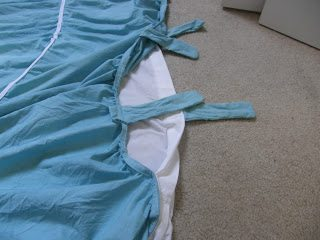 diy duvet cover - with ties