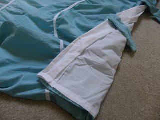 diy duvet cover - add ties