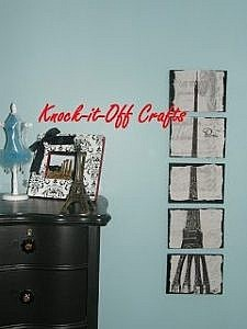 How to Make Eiffel Tower Picture Wall Tiles