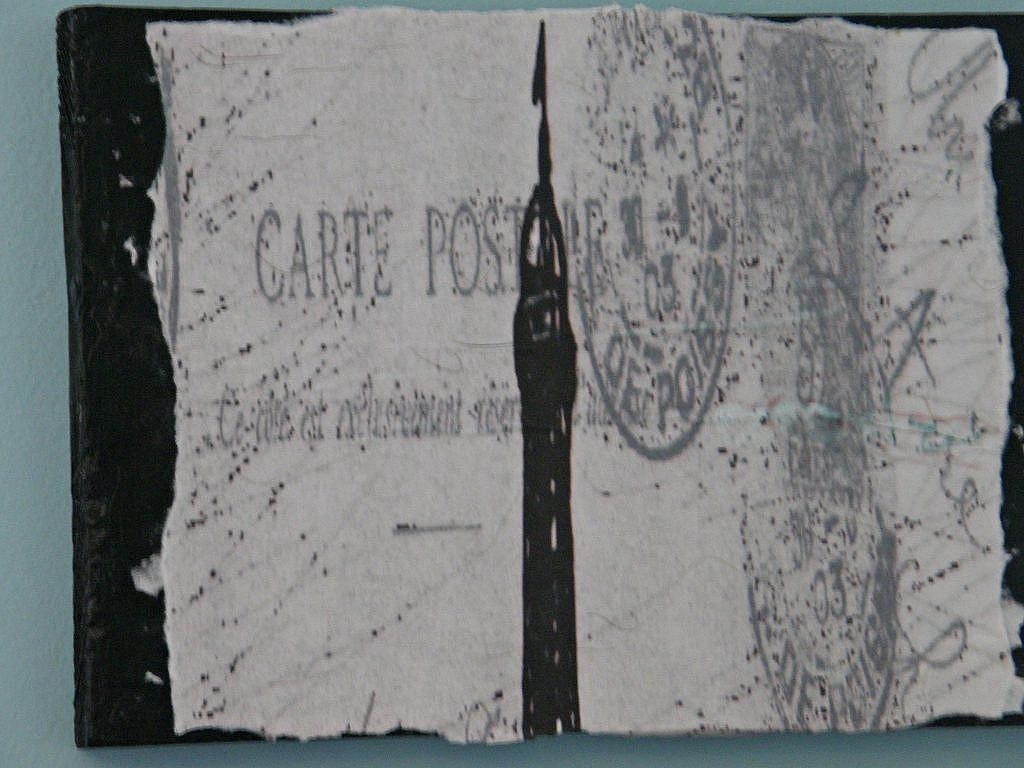 Eiffle Tower Pictures-mounted on board