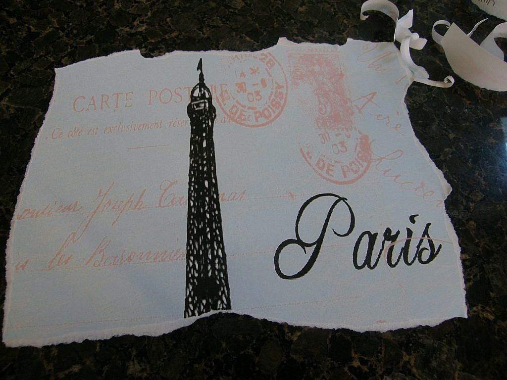 Eiffel Tower Pictures - Torn edges