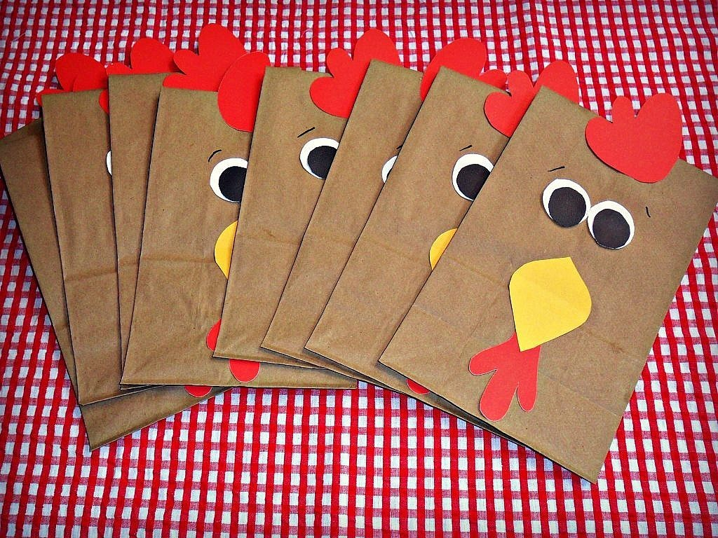 Farm Birthday Party Ideas - Rooster Goody Bags