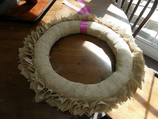 burlap wreath ideas - added ruffle