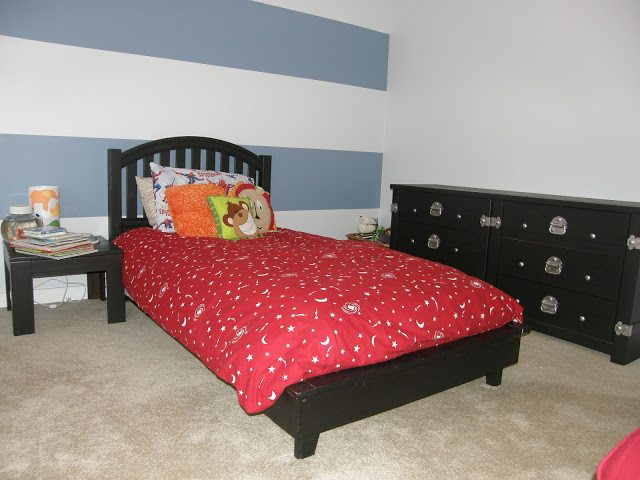 bed and dresser complete - dresser makeover