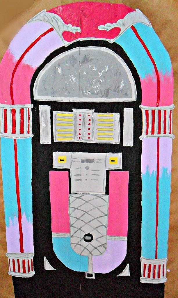 birthday party 50s sock hop juke box prop