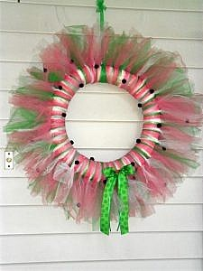 Watermelon Tulle Wreath - bring in a touch of summer!
