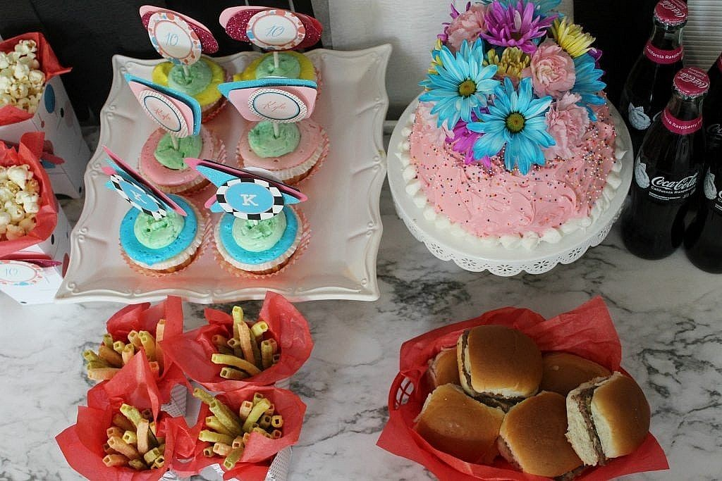 birthday-party-50s-sock-hop - all the food