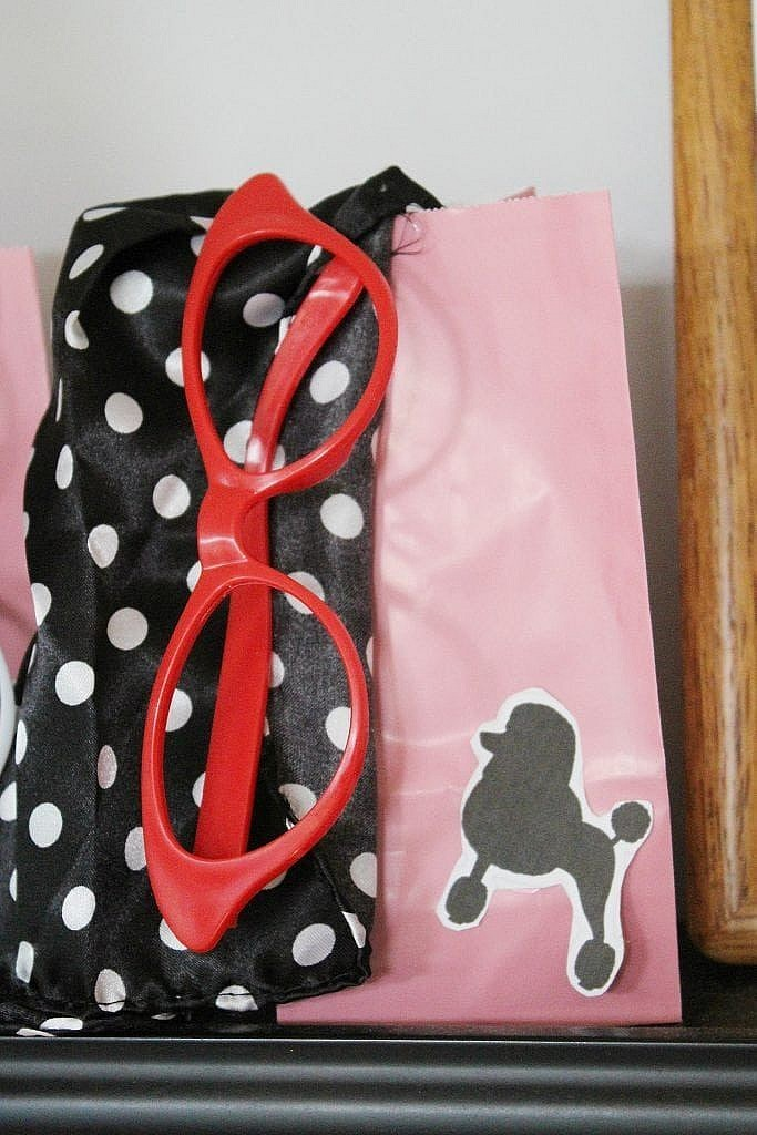 birthday-party-50s-sock-hop - goody bags