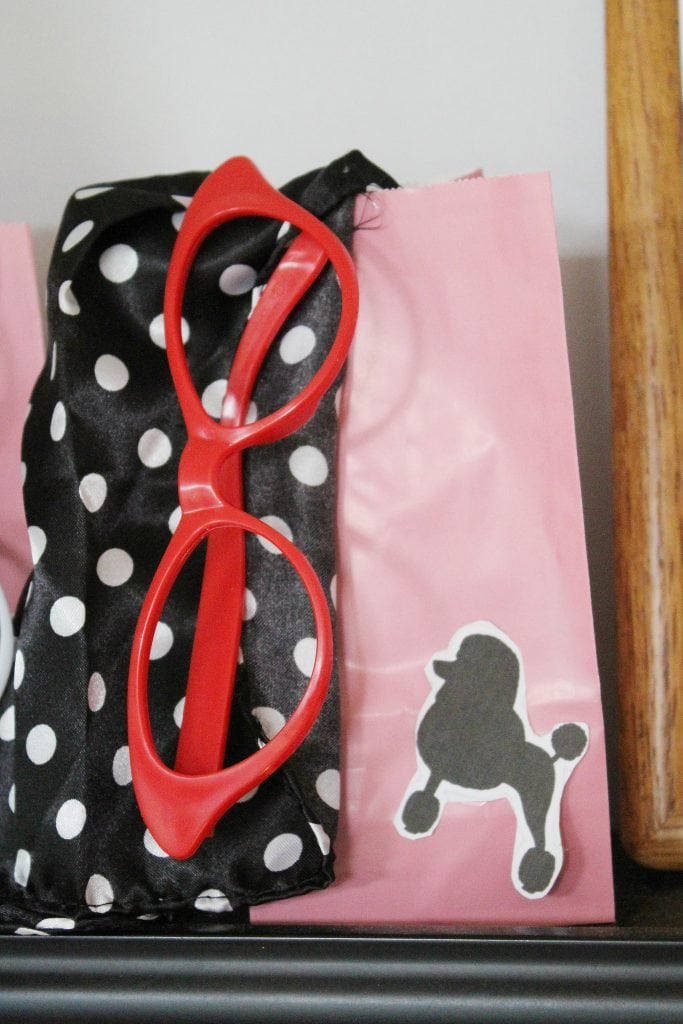 birthday-party-50s-sock-hop - goody bags