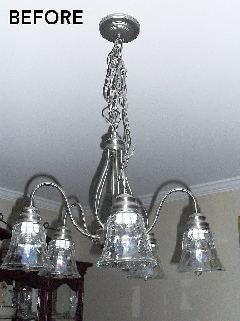 oil rubbed bronze_ chandelier before