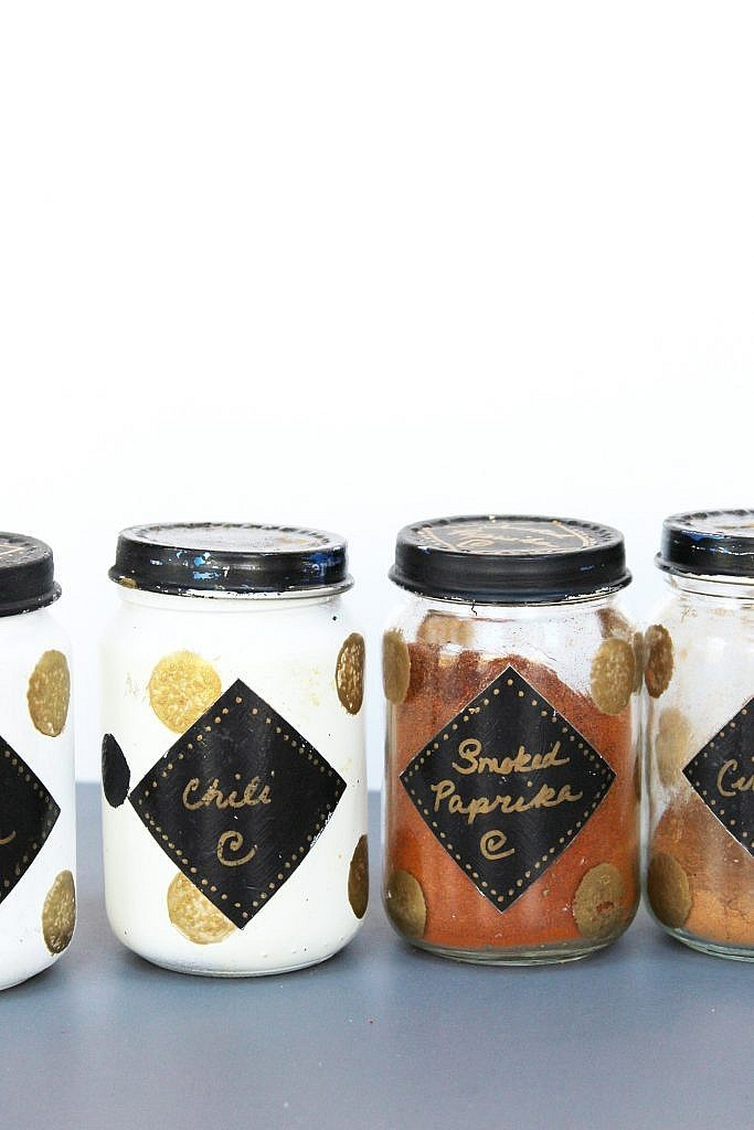 spice jars - closeup