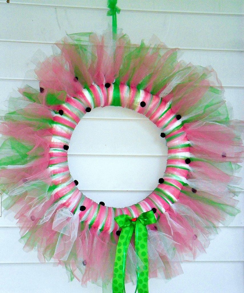 Watermelon Tulle Door Wreath