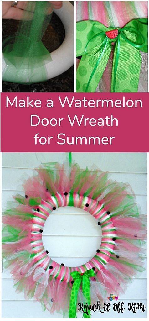 How to Make a Watermelon Summer Door Wreath