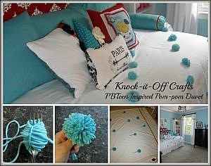 PB Teen inspired Pom-Pom Duvet and Pom-pom Tutorial