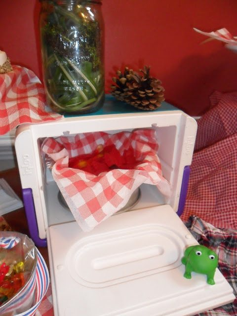 Mini cooler decor camping party