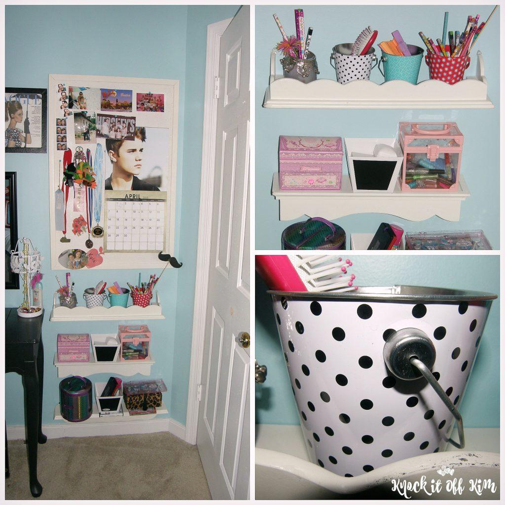 Behind door storage - collage