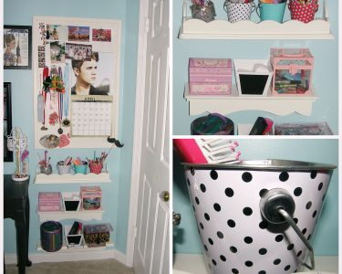 Behind door storage - collage