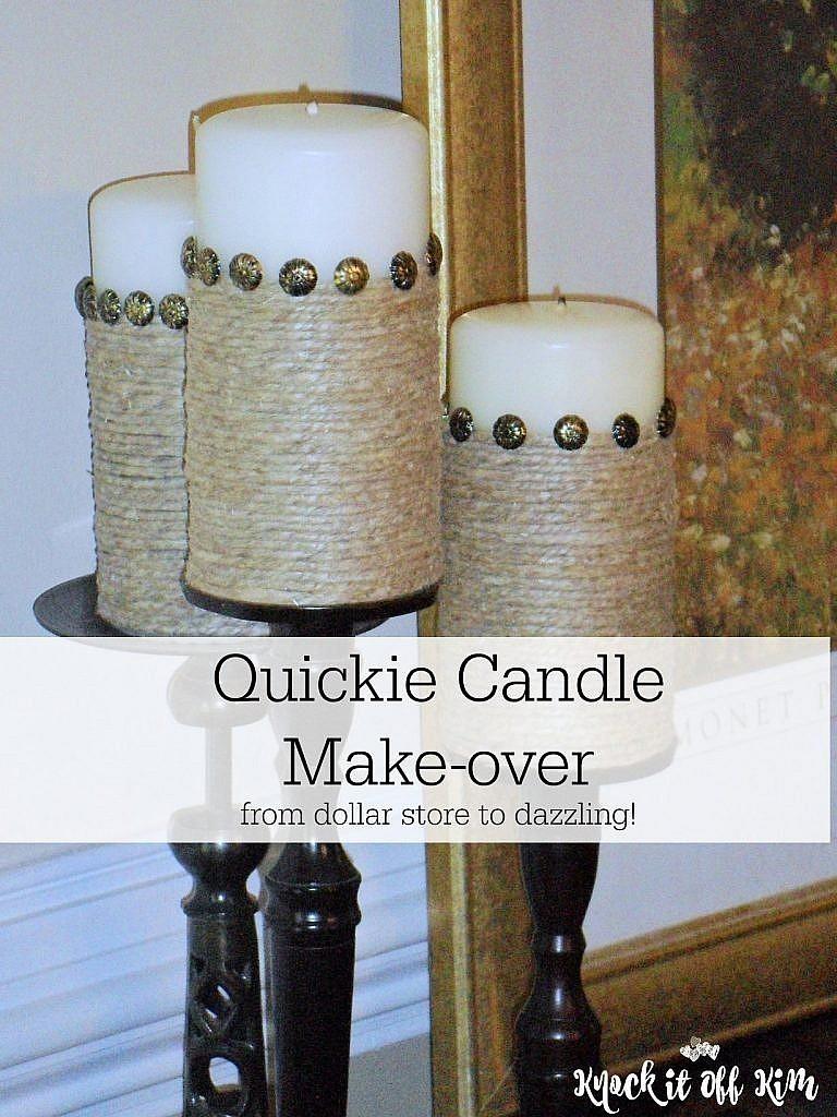 Pillar Candles Make over