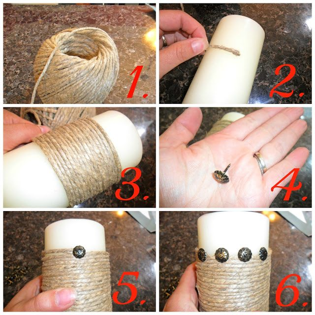 Pillar Candles Makeover - Step by Step