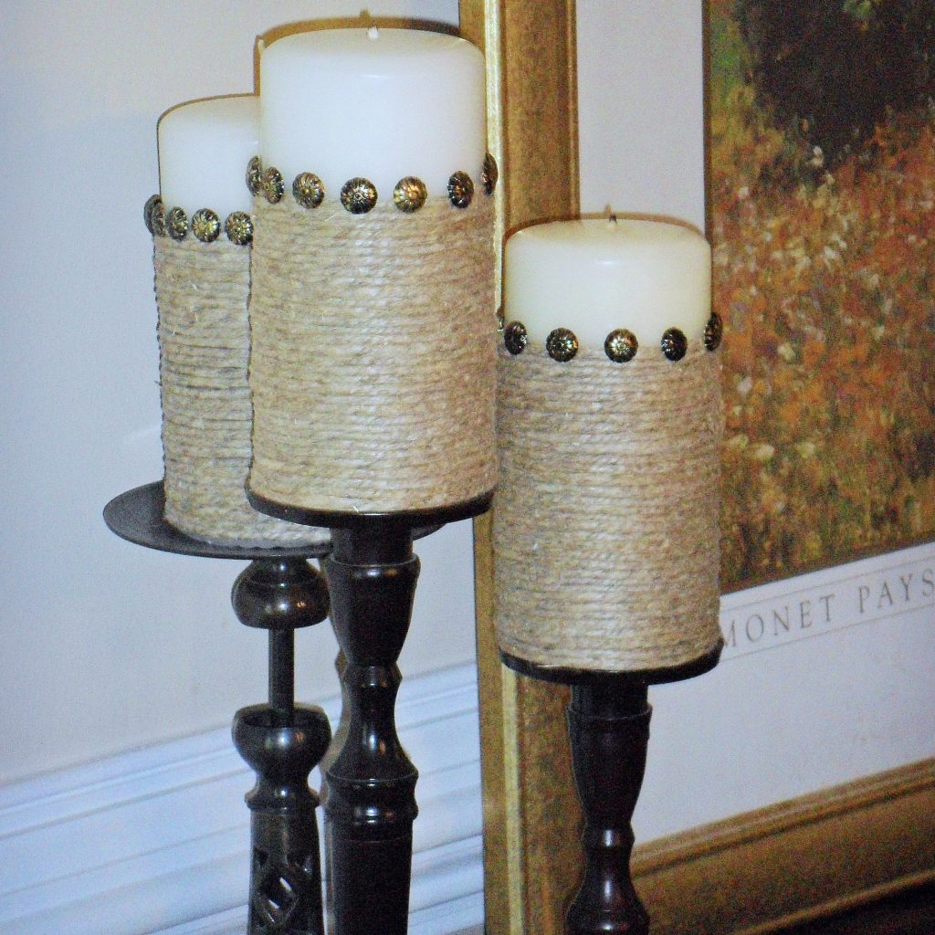 feature - pillar candles makeover