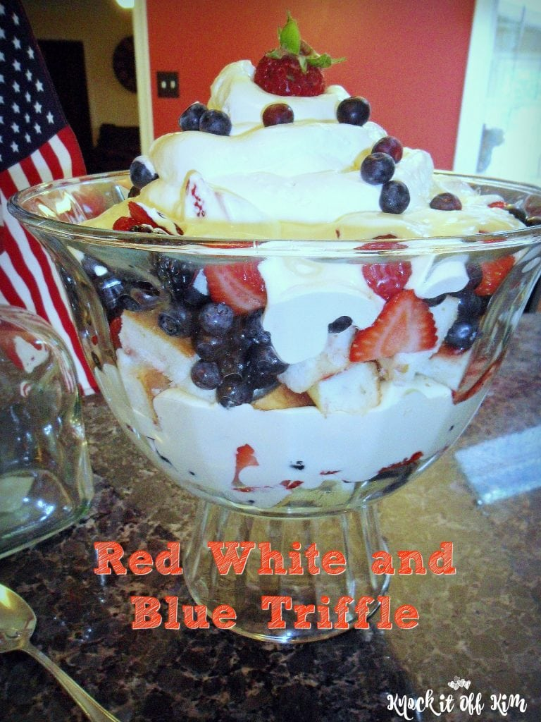 red white and blue triffle