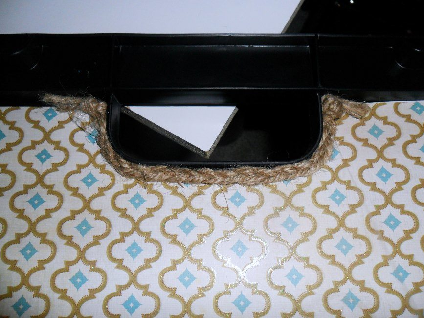 storage box jute handle