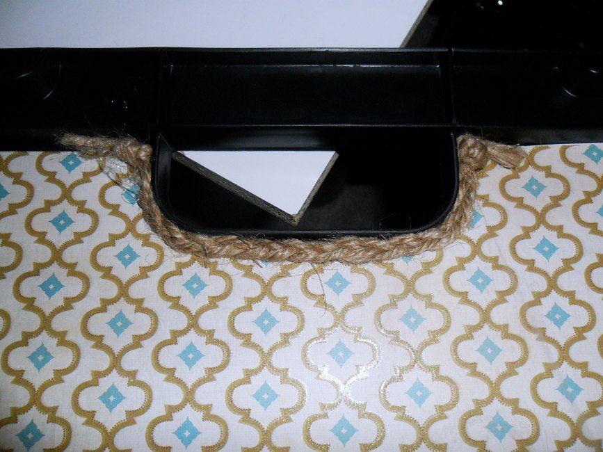 storage box jute handle