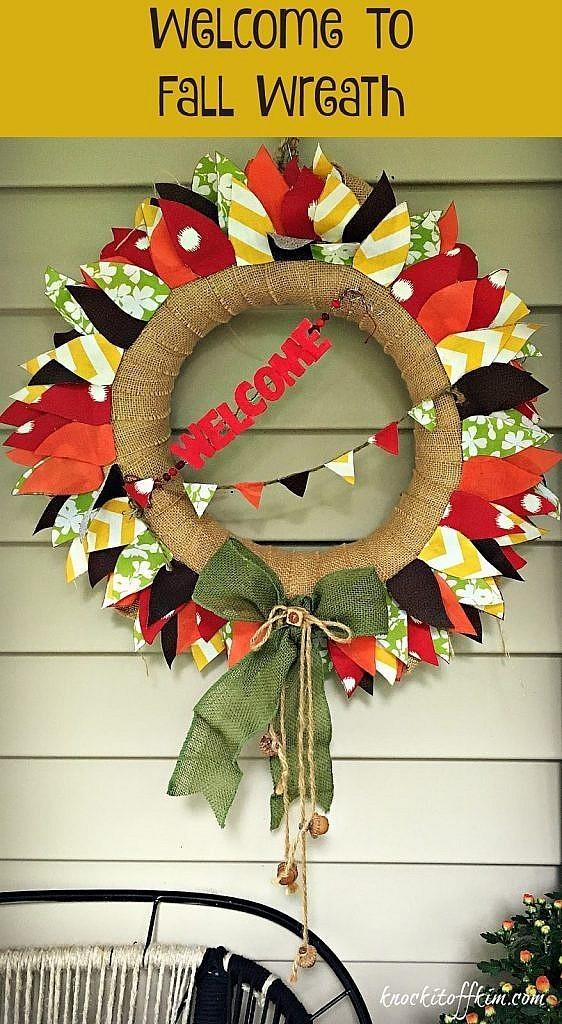 Autumn Wreath Pin