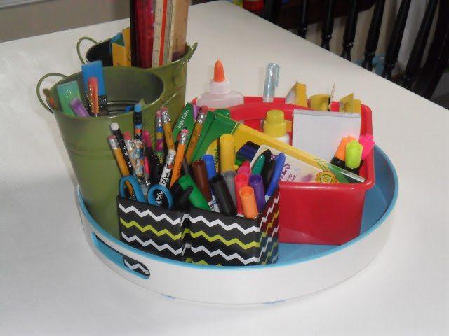 homeschool classroom - writing materials