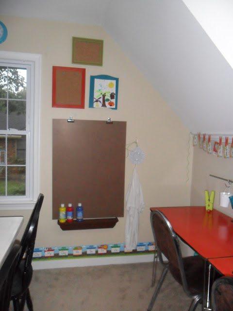 homeschool classroom - wall eisle
