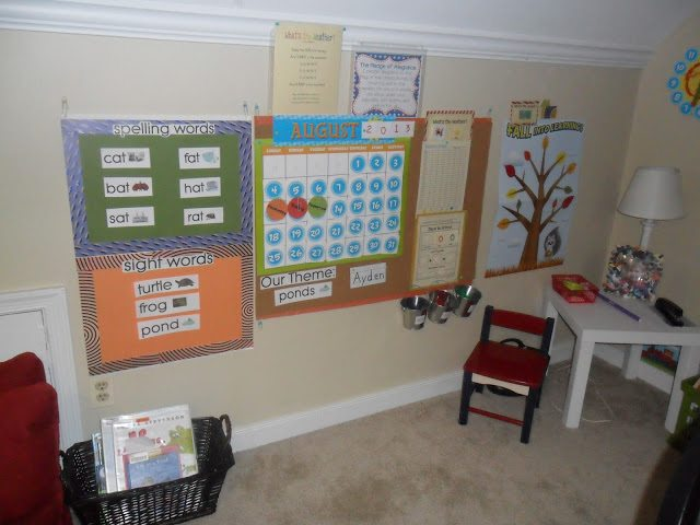 homeschool calendar area