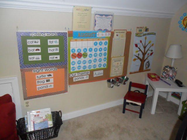 homeschool calendar area