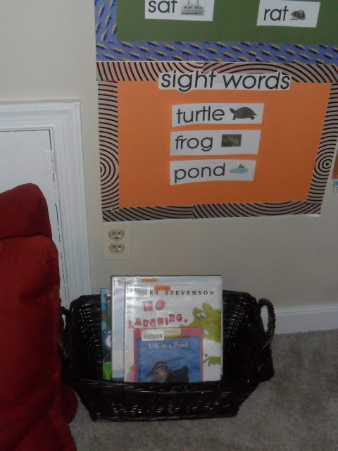 homeschool classroom - pillow story time