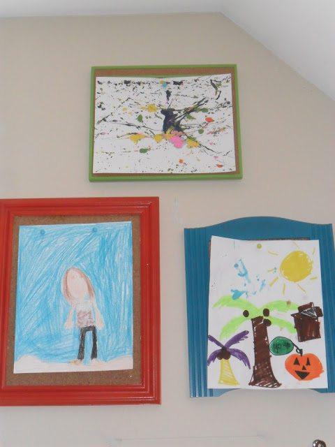 homeschool classroom - art frames