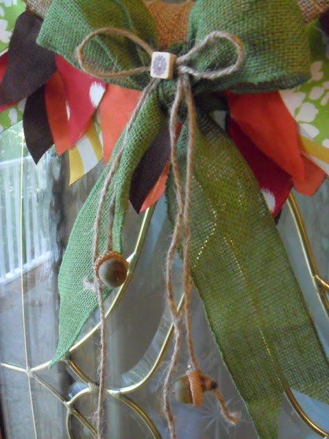 Autumn Wreath - Attach acorns