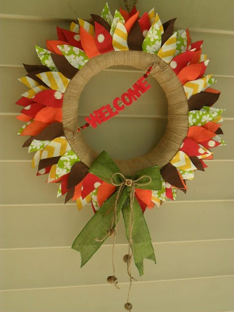 how to make fall wreaths for front door
