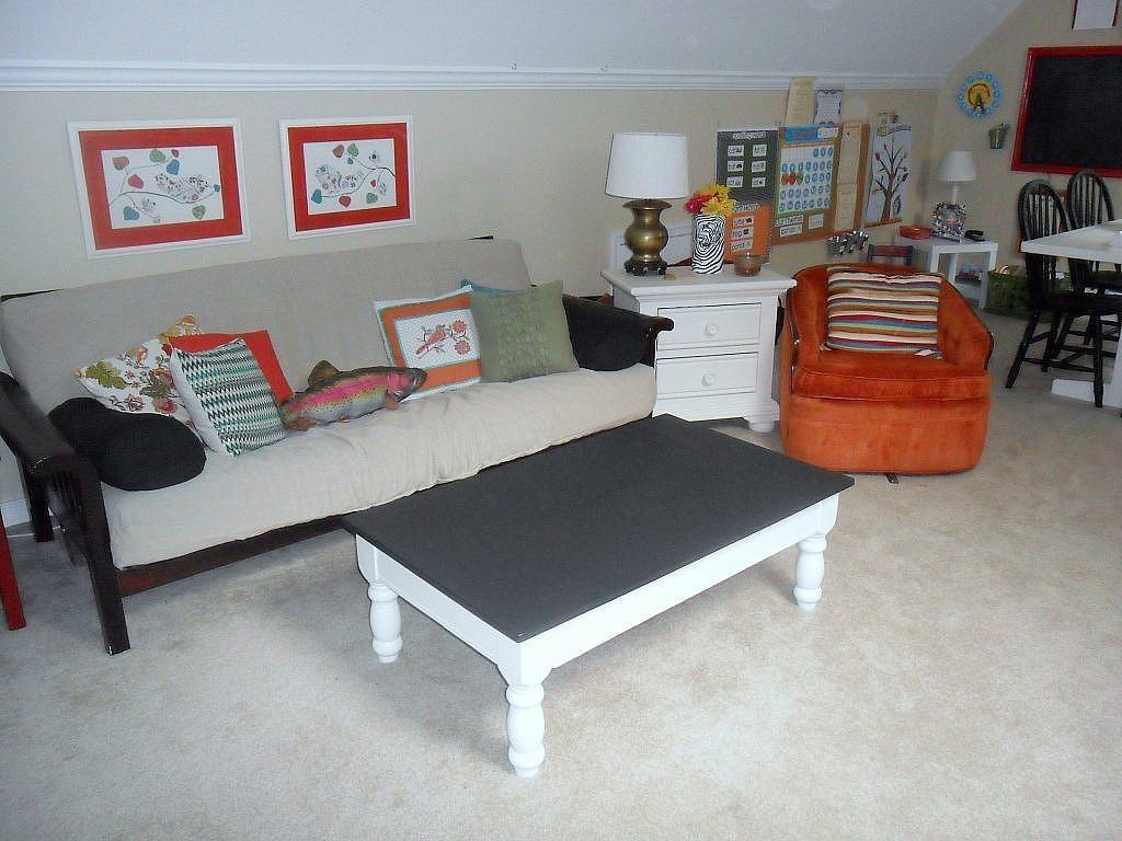 homeschool room sitting area guest bed