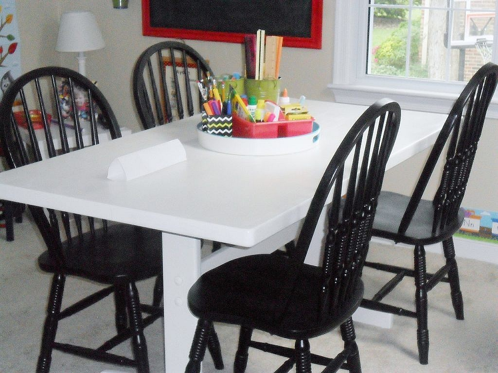 homeschool room - table