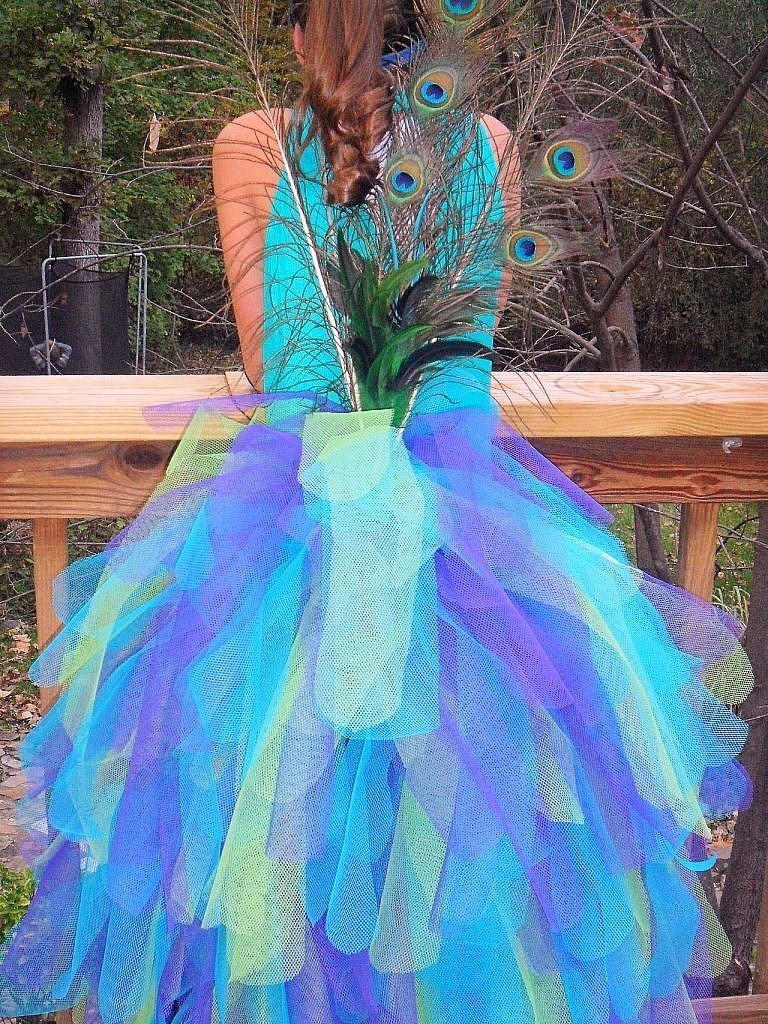 peacock costume-back