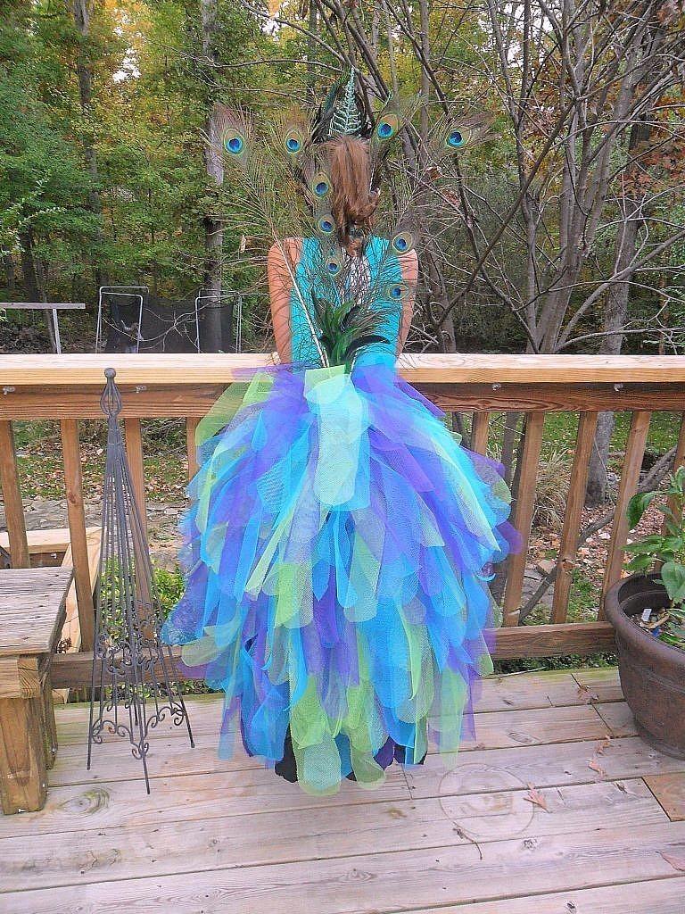 peacock costume - full back