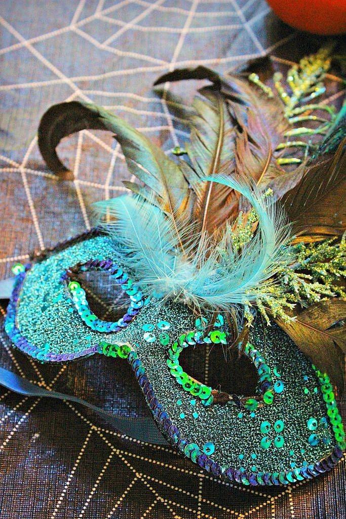 peacock costume - mask