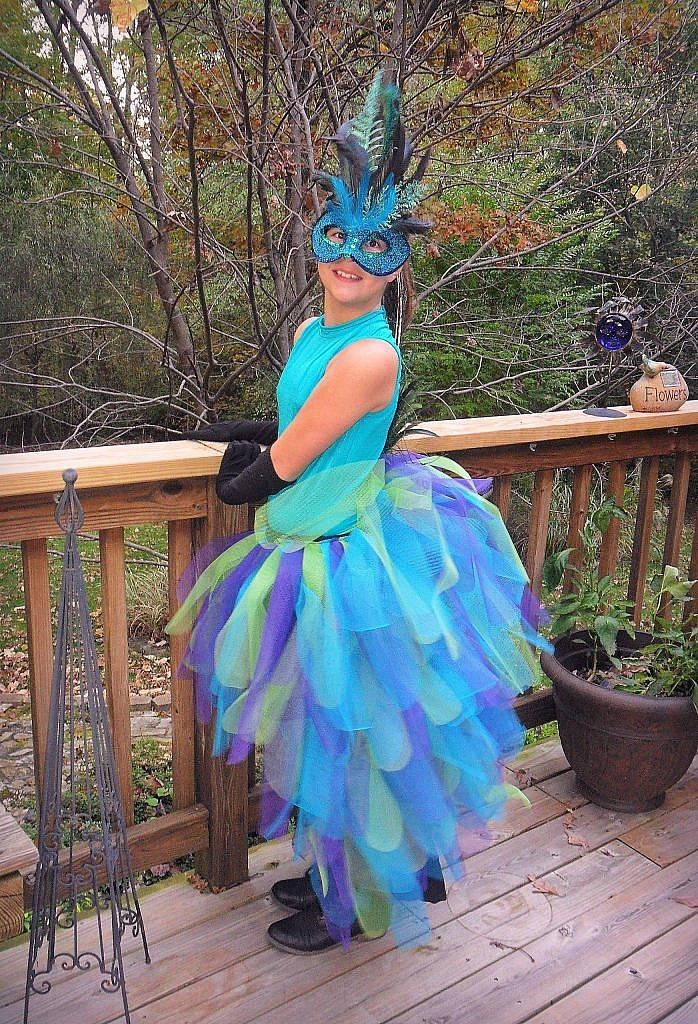 peacock costume - side