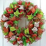 christmas house - decomesh wreath