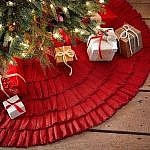 christmas house - tree skirt