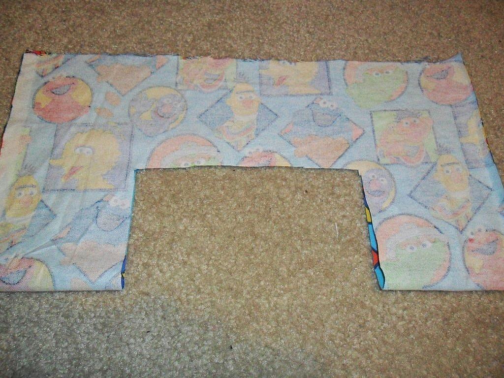 fabric bags - cut window