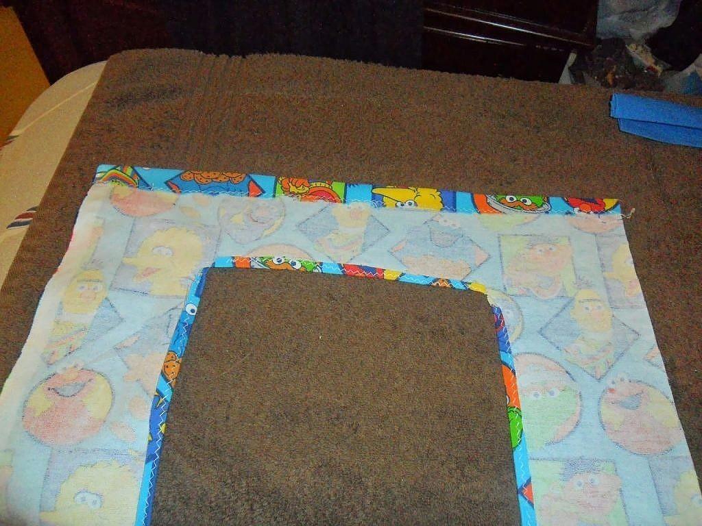 fabric bags - add vinyl - hem edge of window