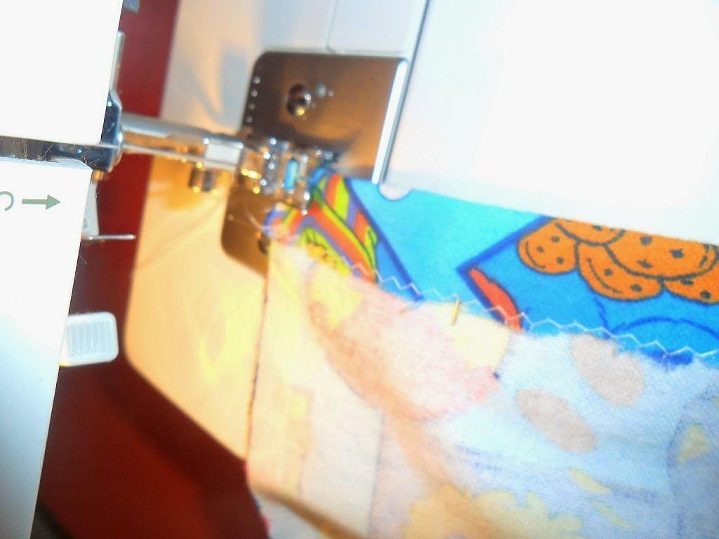 fabric bags - sew edges
