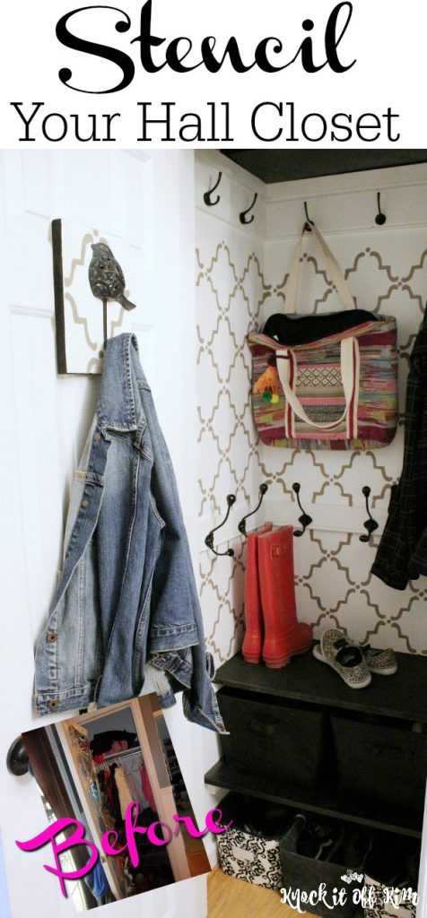 Before and After of hall closet organizing